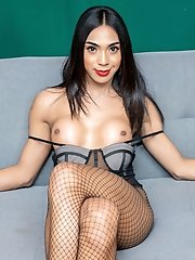 Asian ladyboy Gigi just can't resist her urge to get naughty. Watch her fingers stimulate her rock hard cock bringing herself to orgasm!