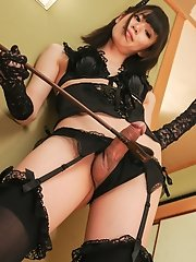 Hot Japanese tgirl Rina Shinoda knows what she wants and doesnt have a problem taking charge.
