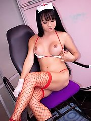 Ladyboy Bon - Nurse Creampied in a Sex Chair