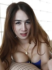 20yo Busty Thai Shemale Topless Striptease For White Tourist